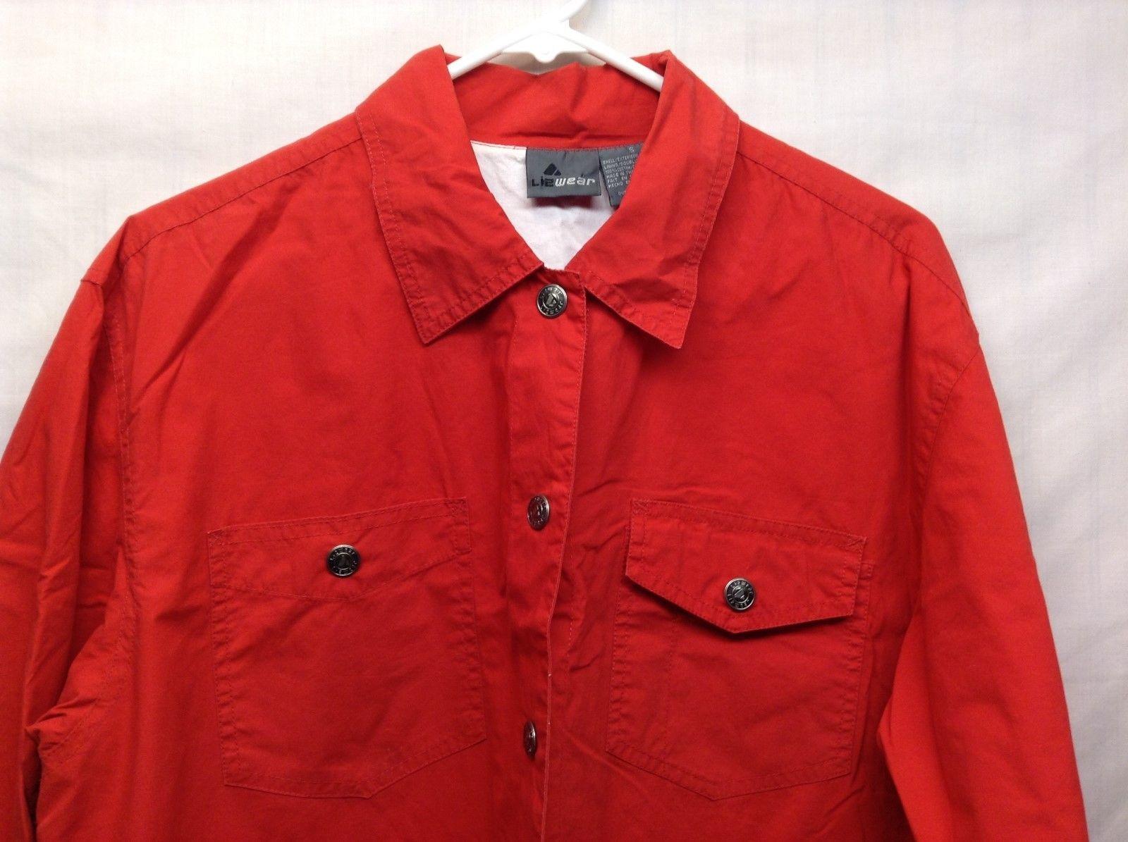 Lizwear Lined Red Rain Jacket Sz S