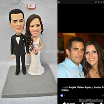 ooak polymer clay figurine doll Custom birthday cake topper cat dog keyc... - $148.00