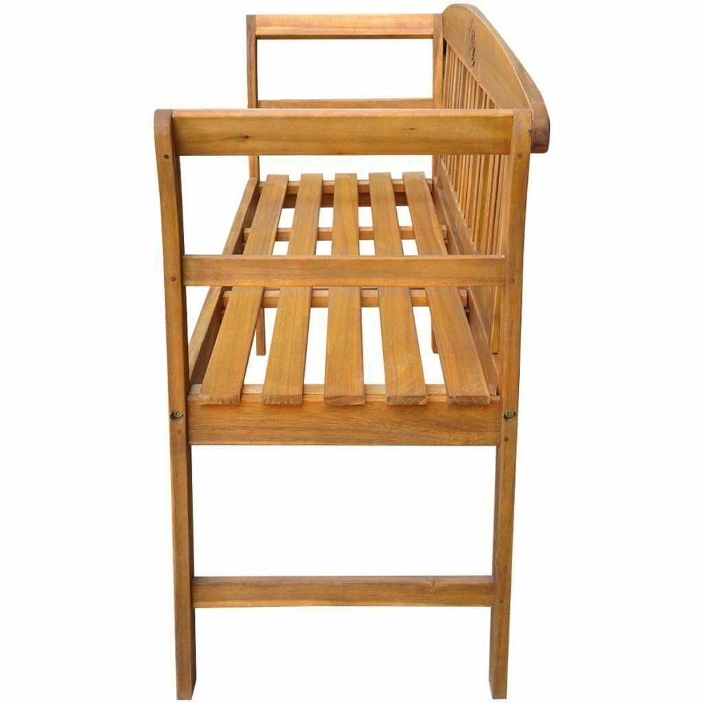 vidaXL Acacia Wooden Rose Garden Bench Outdoor Patio Deck Porch Chair Seat image 3