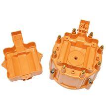 Distributor Cap w/ Rotor & Coil Cover Kit SBC BBC Chevy 65K Coil 8 CYL Orange image 6