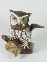 Owl Perching On Branch Home Decor Figure Sculpture Statue - $29.09