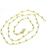18K YELLOW GOLD MINI BALLS CHAIN 2 MM, 18 INCHES SPHERE ALTERNATE OVAL R... - $346.00