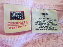 Pink floral girl's long sleeve shirt w/ ballerina  size 5 by Faded Glory MCHE154 - $6.69