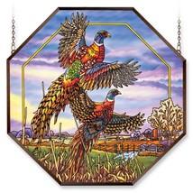 Amia 6478 Window Decor Panel, Flying Pheasant Design, Hand-painted Glass, 22-Inc - $263.60