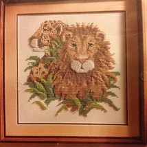 "Lion Sampler Colorpoint Paintstitching  Cross Stitch Bucilla 15""x15"" Sam... - $9.89"