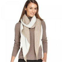 Calvin Klein Women's Double Faced Angled Edge Scarf Brown Multi - $29.00