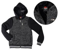 Active Cult Boys Kids Black Fleece Lined Zip Up Sports Hoodie Jacket XL (18-20) image 1