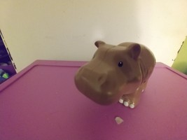 Fisher Price Little People Zoo Talkers Brown Hippo Interactive Adorable  - $15.00