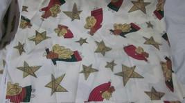 "BEAUTIFUL CHRISTMAS ANGEL FABRIC ST NICOLE DESIGNS BENARTEX 3.9 YARDS X 46"" - $14.99"