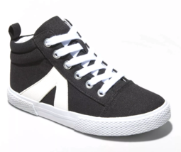 Cat & Jack Girls' Quincey Black Cream Mid-Top Lace Up Sneakers Shoes NWT