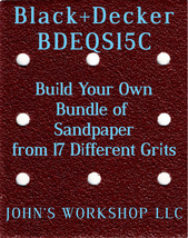 Build Your Own Bundle Black+Decker BDEQS15C 1/4 Sheet No-Slip Sandpaper 17 Grits - $0.99