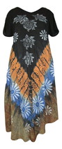 Women's Exclusive Umbrella Dress~Tie &  Dye Handpainted Bohemian Midi Dress - $17.77