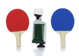 NPW Fun Desktop Mini Table Tennis Ping Pong Set Office Gag Novelty Gift NEW image 2