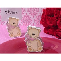 Cute and Cuddly Pink Teddy Place Card Holder - 60 Pieces - $54.95