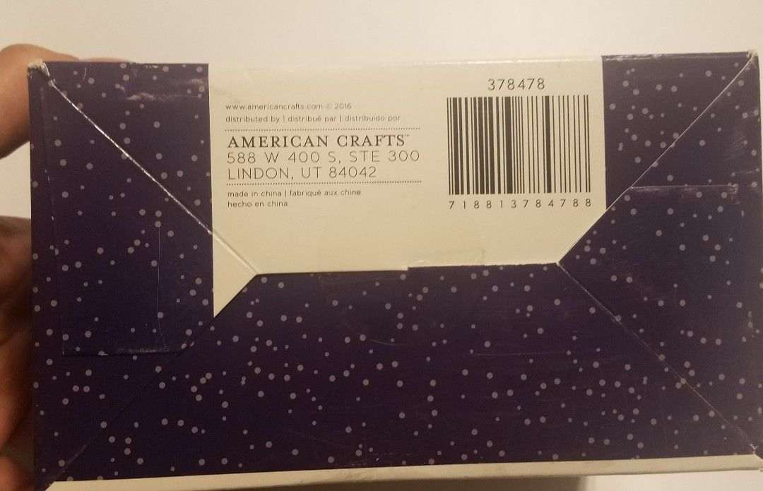 American Crafts Starshine Shimelle 40 cards & Envelopes blank note thank you