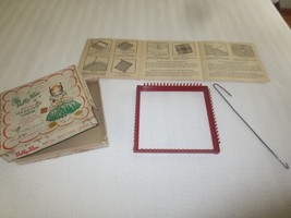 1950's Vintage NELLIE BEE Metal WEAVING LOOM with Instructions & Box - 7... - $10.36 CAD