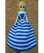 Vintage Boudoir DOLL with beautiful dress on Stand • Pre-owned • Lovely ... - $15.07