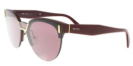 NEW PRADA Cat Eye Women's Sunglasses PR 04US TY7098 Bordeaux Gold - $185.77