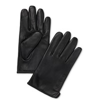 Designer Calvin Klein Classic Leather Fleece-Lined Touchscreen Gloves X... - $54.45