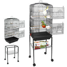 59'' Rolling Bird Cage Parakeet Finch Budgie Conure Lovebird House wit - £53.69 GBP