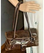 "Giana Bernini Women's Italian Leather Barrel Bag Purse 6"" x 12"" x 3"" - $32.82"