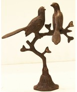 Bird Stand Statue Decorative Brass  Home Decor Vintage Collectible  US83BH - $237.50