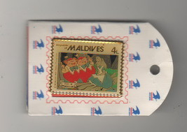 Alice Tweetdle Dee & Dum Wonderland Maldives Stamp Authentic Disney pin ... - $29.99