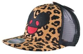 Deadmau5 Uomo Nero Oro Leopardo Ghepardo Stampa Flock Rete Baseball Snapback image 2