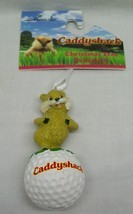 "Hallmark CADDYSHACK GOPHER ON GOLF BALL 3"" HOLIDAY CHRISTMAS TREE ORNAME... - $14.85"