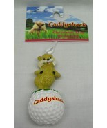"Hallmark CADDYSHACK GOPHER ON GOLF BALL 3"" HOLIDAY CHRISTMAS TREE ORNAME... - £11.30 GBP"
