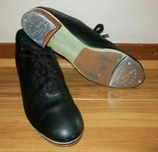 Capezio Tele Tone Tap Shoes Women Size 7 M Black Dance CG355 Lace Up Coppola - $19.75