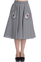 Hell Bunny Ladybird 50's Circle Skirt black whi... - $19.99