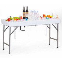 5 FOOT X-LARGE PARTY GLAÇON BIN FOLDING TABLE WITH SKIRT CATERING DRINK - $118.73