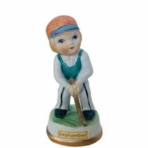Birthday Gift porcelain figurine vtg ceramic sculpture Japan 1960s Septe... - $19.30