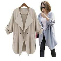 Single Breasted Long Coat Causal - $90.00