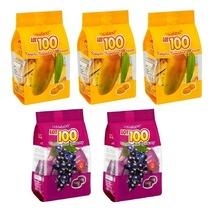 [5 Packs] Cocoaland Lot 100 Fruity Gummy 150gram - Mango & Blackcurrant Flavor - $38.90