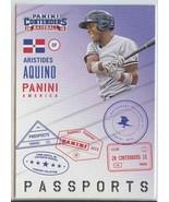 ARISTIDES AQUINO RC 2015 Panini Contenders Passports #2 Reds Baseball Ca... - $9.49