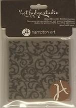 Hampton Arts Hot Fudge Studio Flourishes Background Stamp #ICO172