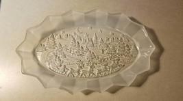 Vintage Mikasa Christmas Platter - Silent Night - Oval Canape Tray - $25.00