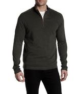 Robert Graham Elia Quarter Zip Pullover, Heather Dark Charcoal , Size XL... - $74.24