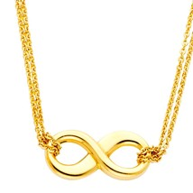 14K Yellow Gold Infinity Necklace  - $279.99