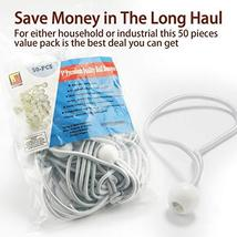 9 inch 50 Piece Heavy Duty 5mm Ball Bungee Canopy Cord By Wellmax, White Color image 4