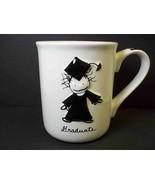 Marci 3D coffee mug GRADUATE Children Inner Light Enesco Black white 14 oz - $11.26