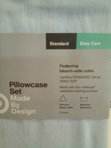 Standard Made By Design Solid Easy Care Pillowcase Set Light Blue NEW! STORE image 2