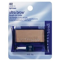 Maybelline New York Ultra-brow Brow Powder, 10 Light Brown, 0.1 Ounce, P... - $25.00