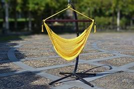 Hanging Caribbean Polyester Hammock Chair 48 Inch Yellow - $73.23