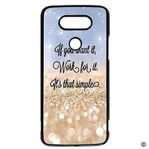 MsMr LG G5 Phone Case Cover Gold Glitter Lift You Up Quotes Hard Plastic... - $9.89