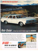 Vintage 1964 Magazine Ad Oldsmobile Vista-Cruiser A New Kind Of Station ... - $5.93