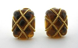 Seaman Schepps 18K Yellow Gold Amber Cage Earrings  - $3,910.20