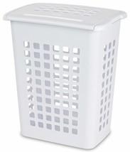STERILITE 12238004 Rectangular LiftTop Laundry Hamper, White, 4-Pack - $33.42